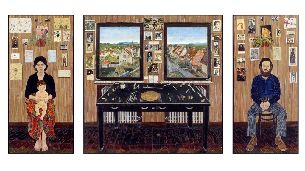 The Fulbright Triptych by Simon Dinnerstein