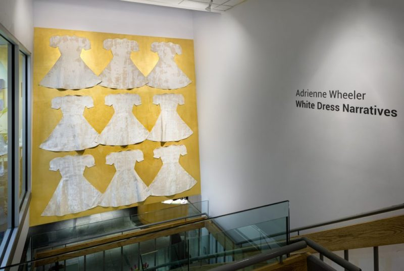 installation shot of White Dress Narratives